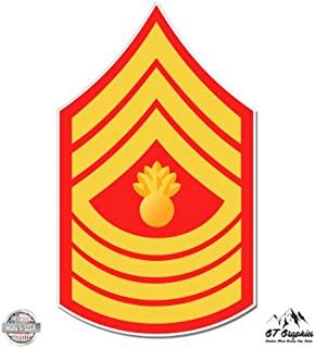 GT Graphics USMC E9 Mgys Master Gunnery Sergeant Rank - Vinyl Sticker Waterproof Decal