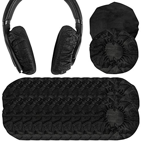 Geekria 100pairs Sanitario e Monouso Fodere Elastiche per Cuffie Sony MDR-7506, V6, Beats Studio 3 Headset, Protettive Earpads Covers (3.14-4.33inches)