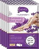 Foot Peel Mask 5 Pack, Lavender Exfoliating Foot Masks, Baby Foot Peel Soft Smooth Touch Natural Exfoliator for Dry Dead Skin, Callus, Repair Rough Heels for Men Women