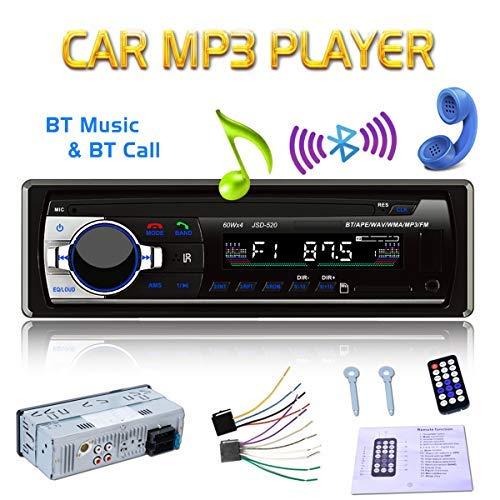 GOFORJUMP Autoradio Bluetooth, autoradio Bluetooth, autoradio FM 4 x 60 W, Lecteur MP3 / Lecteur MP3 USB/SD/AUX avec télécommande