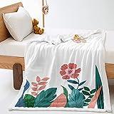 KLily Manta Impresa En 3D, Sofá del Dormitorio En Casa, Manta De Aire Acondicionado, Funda De Oficina, Manta De Pierna, Material Lavable