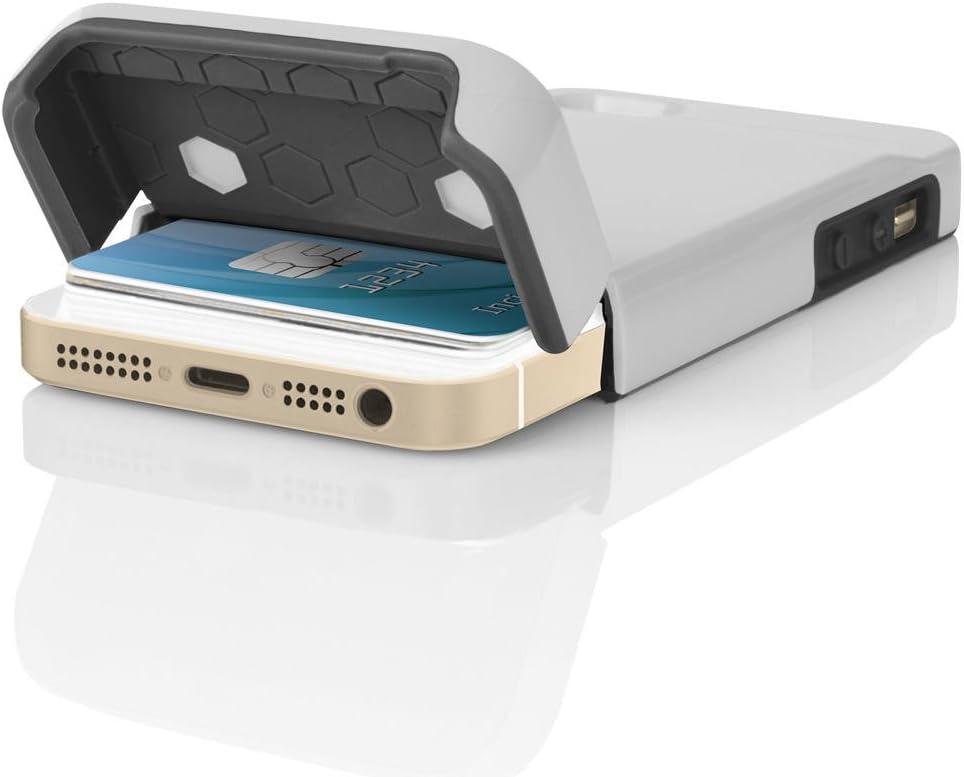 Pradory Stashback for iPhone 5/5s/SE - White/Gray