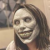 Creepy Smiling Demon Mask - Halloween Cosplay Evil Cosplay Props, Horror Cosplay Props, Evil Cosplay Scary Halloween Costume Party Props the Evil Cosplay Props