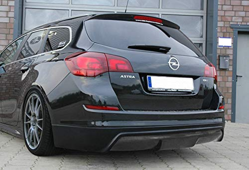 Performance Rear Bumper diffuser addon with ribs/fins For Astra J 5 door + Sportstourer 2009-2015