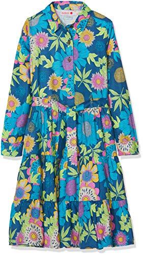 Boboli Mädchen Viscose Dress for Girl Kleid, Mehrfarbig (Blumen 9868), 7 Jahre