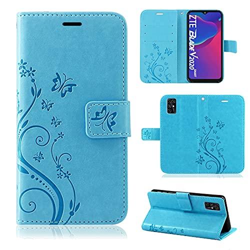 betterfon Handyhülle für ZTE Blade V2020 Smart, Hülle Blade V2020 Smart Flip Hülle Klapphülle Schutzhülle mit [Kartenfächern] Kompatibel für ZTE Blade V2020 Smart Blau