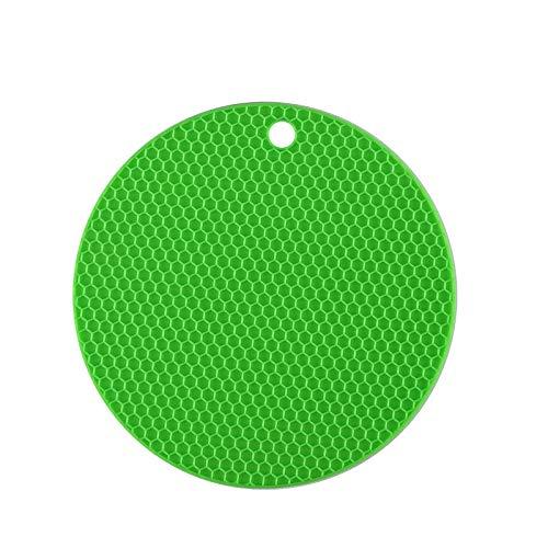 Portavasos Nueva montaña multifunción 18 cm resistente al calor resistente al calor de silicona de silicona resbalón anti-caliente herramientas de cocina Herramientas de la cocina (Color : Verde)
