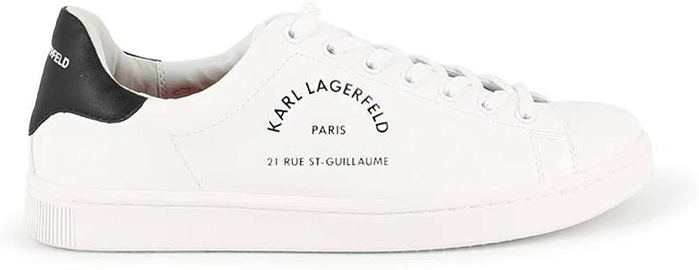 Karl lagerfeld kourt, scarpe sneakers per uomo,in pelle,numero 41 eu KL51241011