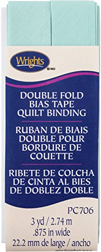 "Wrights Cool Cucumber Double Fold Quilt Binding 7/8"" X3yd"