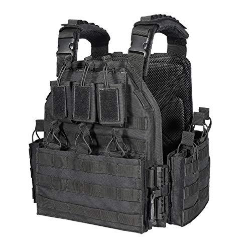 vAv YAKEDA Outdoor Tactical Military Vest Airsof Vest for Men (Black-B)
