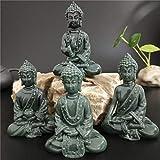 VBNHGF Estatuas Figuritas Decoración Estatuas De Buda Regalos De Feng Shui Esculturas Figuras Talladas A Mano Decoración del Jardín del Hogar-4_Piezas_Set_ (L) _6.5_X_ (W) _4.5_X_ (H_) 9_Cm