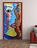 Türposter FRAU 62x200cm Türfolie Türtapete Grafitti Kunst Gemälde 585tp
