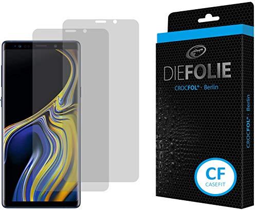 Crocfol Schutzfolie vom Testsieger [2 St.] kompatibel mit Samsung Galaxy Note 9 - selbstheilende Premium 5D Langzeit-Panzerfolie -inkl. Veredelung - für vorne, hüllenfreundlich