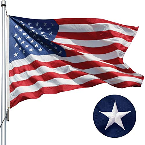 hogardeck American Flag 3×5 ft US Outdoor Flags UV Protected Embroider Stars Sewn Stripes Vivid Color Double Stitched Brass Grommets USA Flag