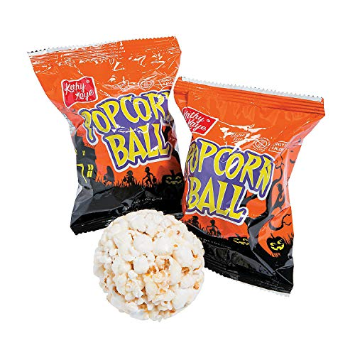 Halloween Popcorn Balls (24 individually wrapped) Halloween Candy Snacks