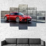 AWER Lienzos Cuadros Impresos Coche Evora GT410 2020 Artística Imagen Gráfica Wall Art Panel Cuadros Modernos Decorativo para Tu Salón o Dormitorio 5 Piezas 150x80cm