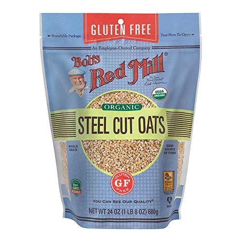 Bob's Red Mill Gluten Free Organic Steel Cut Oats, 24 Ounce (Pack of 1)
