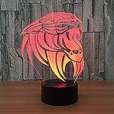 Lámpara 3D Mono RGB Lámpara de humor cambiable Base de luz de 7 colores Luz de noche 3d fresca para niños Amigo Regalo de cumpleaños y vacaciones