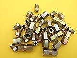 Boltstore 3/16'El Cobre níquel/Cobre Accesorios de tubería de Freno, Paquete de la Variedad de 35 Piezas