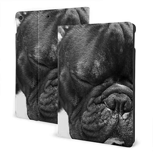 Melancholic French Bulldog Case for Cute iPad 8th Generation Case 10.2 inch Slim Smart Leather Cover Auto Wake/Sleep