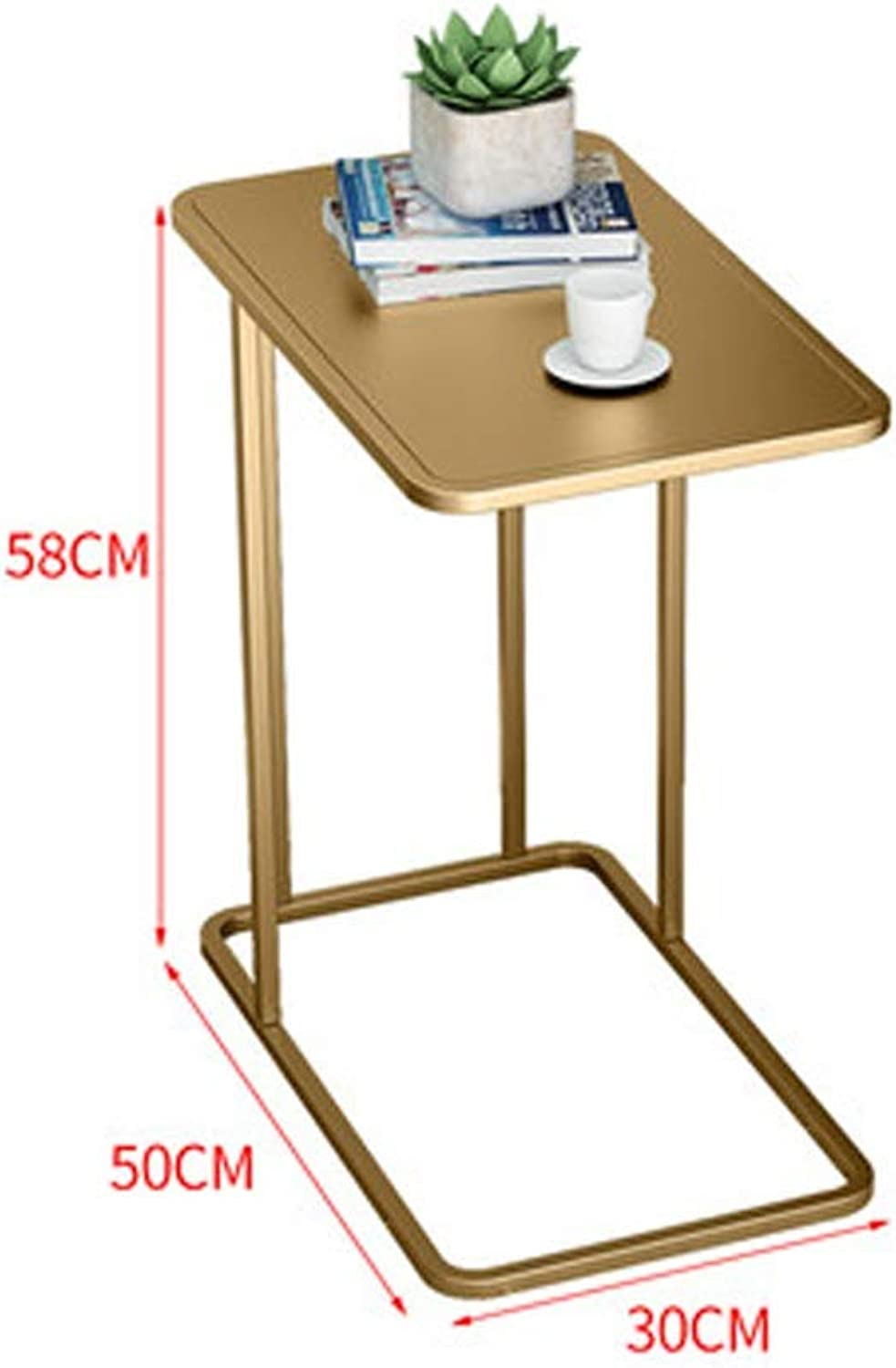 AINIYF Nordic Ins Small Coffee Table Simple Square Table Sofa Side Side Cabinets Living Room Corner Side Table Bedroom Bed Table 19.7x11.8x22.8inches (color   Metallic)