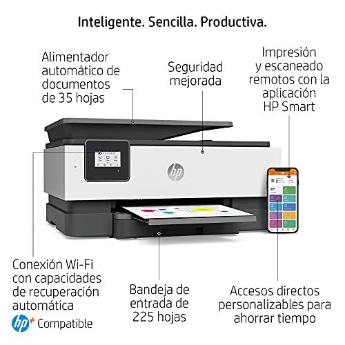 Impresora Multifunción HP OfficeJet 8012e - 6 meses de impresión Instant Ink con HP+