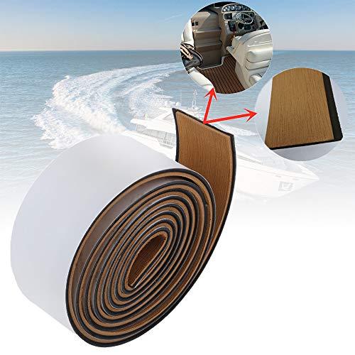 CHURERSHINING EVA Boat Decking Sheet Border Stripe Tape with Self Adhesives,Marine Teak Deck Flooring Material, 94.5