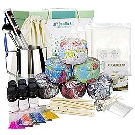 TOFU Kit de Fabrication de Bougies parfumées, Coffret Cadeau Bricolage, Cire d'abeille 28 oz, 6 Grandes boîtes de…