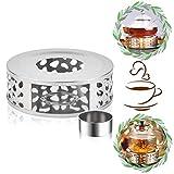 ETHEL Stövchen Teewärmer Kaffeewärmer aus Edelstahl mit Teelichthalter,Teelicht und Teekanne ist Nicht enthalten,Basis hitzebeständige Teekannen für sämtliche Teekannen geeignet