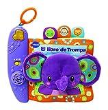 VTech-El Libro de Trompa Cuento de tela interactivo para bebé con un suave elefante de peluche y diferentes texturas para desarrollar el sentido del tacto (3480-189322)