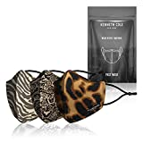 Kenneth Cole Animal Print Masks With 9 PM 2.5 Replaceable Filters: Designer Face Mask For Women - Stay Safe And Look Fab At The Same Time, 3-pack