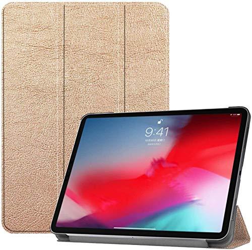 FANG Estuche Inteligente para Apple iPad Pro De 11 Pulgadas 2018 [Soporte para Carga De Lápiz De Apple], Estuche Delgado Y Liviano con Carcasa Trasera para PC,Gold