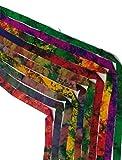 Cinta de seda reciclada KnitSILK - Abstracto - varios colores de seda Sari cintas - Tiras de seda, recordatorios de seda - 1 yard 10 piezas