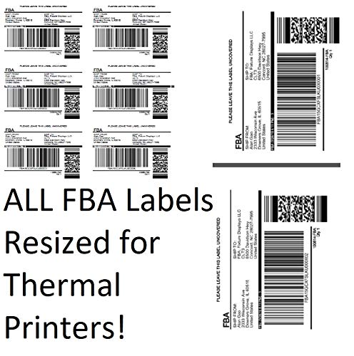 Buy Amazon FBA Label Split Resizer Software Print Direct to Thermal Printer Free Labels 12-Month Sub...