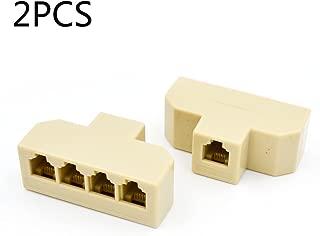 2PCS RJ11 1 to 4 Splitter Telephone Splitter Adapter Cable