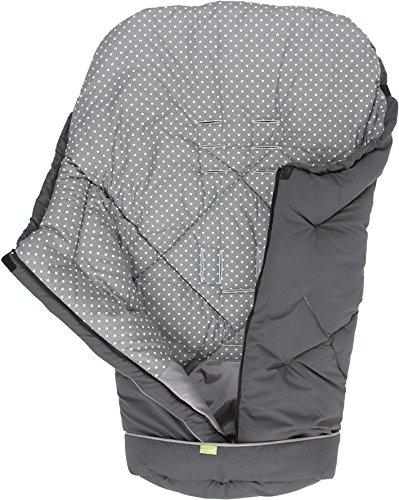 PRIEBES MILADKA Universal Winter Fußsack für Kinderwagen & Buggy/abnehmbares Fußteil/auch Krabbeldecke & Wickeldecke/atmungsaktiv & wasserabweisend, Design:anthra stars grau