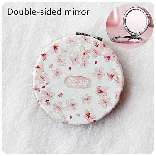 LASISZ Dessin animé de Mode Anti-Chute Portable Petit Miroir Mignon Filles Miroir de Maquillage Miroir de Poche pour Outils de Beauté Mini Miroir, 12