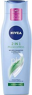 NIVEA 2in1 Pflege Express Mildes Shampoo & Spülung 250 ml, intensives Pflegeshampoo mit Aloe Vera, Haarshampoo für Pflege in kürzester Zeit