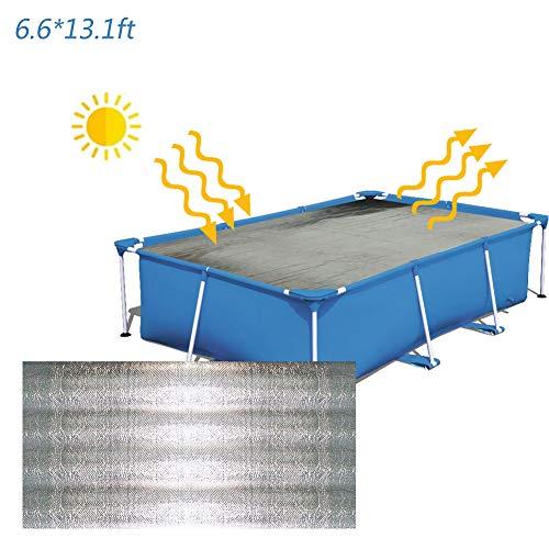 dream-cool Poolabdeckung Rechteck, Pool Abdeckplane, Pool Solarplane, Solar Pool Cover, Solarabdeckplane Pool Anti-Verdunstung, Schwimmbad Isolierfolie Plane (200X400cm)