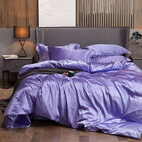Bedding-LZ -Summer Love Anti-Silk Powder Bordado de Gama Alta de Seda de Seda de Seda de Seda de Seda de Seda con Seda de Cuatro Piezas-S_1,8 m de Cama (4 Piezas)