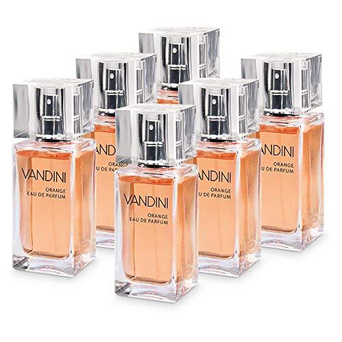 VANDINI Energy Eau de Parfum Damen - Parfüm Damen mit dem Duft von frischer Orange & Zedernholz im 6er Pack (6x 50 ml)