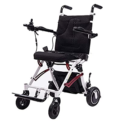 ELENKER Electric Wheelchair, Super Lightweight Foldable Power Mobility Aid Motorized Wheel Chair for Outdoor Home Travel, Weight Only 41LBS by ELENKER