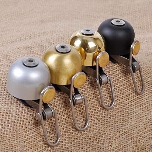ENticerowts Timbre De Bicicleta De Metal Redondo Exquisito Vintage, Bocina De Bicicleta De Montaña con Sonido Nítido, Adecuado para Niños Y Adultos Negro