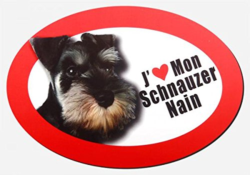 magnet j'aime mon schnauzer nain