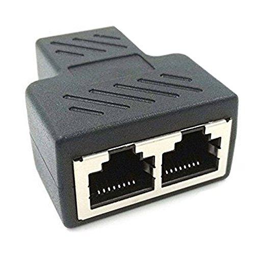 nextany RJ45Splitter Adapter 1zu 2Dual Weiblich Port Cat 5/Cat 6LAN Ethernet Buchse Splitter Stecker Adapter