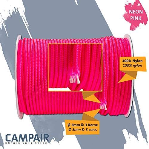 navegaci/ón Trekking Ideal para Acampar 100 m Longitud excursiones CampAir Cuerda Multiusos Paracord Tipo II de 3 mm en Nylon