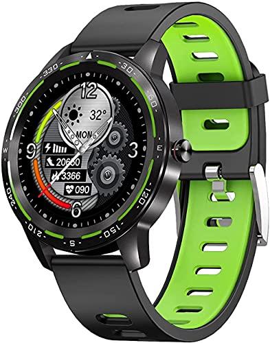 H86 Smart Watch Full Touch Screen Bluetooth IP67 Impermeabile Più Modalità di Sport Frequenza Cardiaca Previsioni Meteo Adatto per Android IOS-C