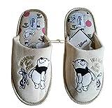 Ladies Disney Winnie The Pooh Slippers Mules Footwear Soft Gift New (Numeric_5) Cream
