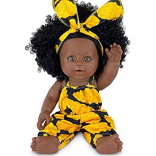 Muñeca Negra de 12 Pulgadas, muñeca Africana para niños, muñeca de Juego de Moda, niñas