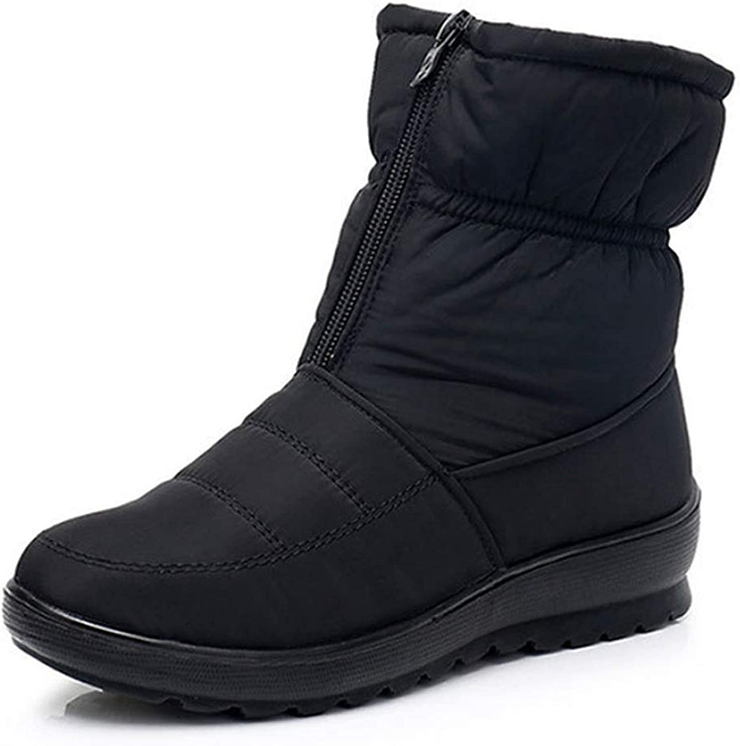 Fay Waters Snow Boots Womens Winter Anti-Slip Ankle Booties Waterproof Warm Cotton Lined Sneaker